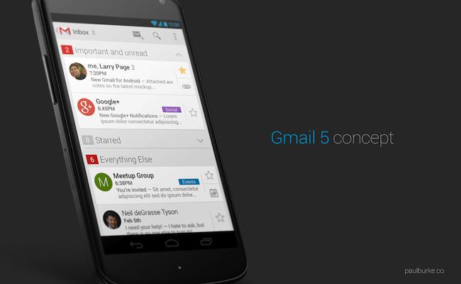 Photo de Et si Gmail mobile ressemblait à ça?
