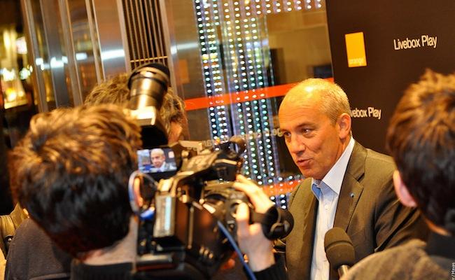Photo de Stéphane Richard prêt à passer son salaire annuel sous la barre du million d'euros
