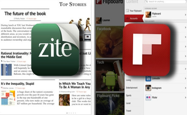 Photo de Applications de social news: Zite ou Flipboard?