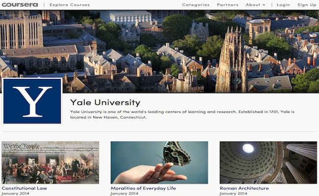 Photo de Le MOOC Coursera ajoute Yale à son catalogue de cours gratuits