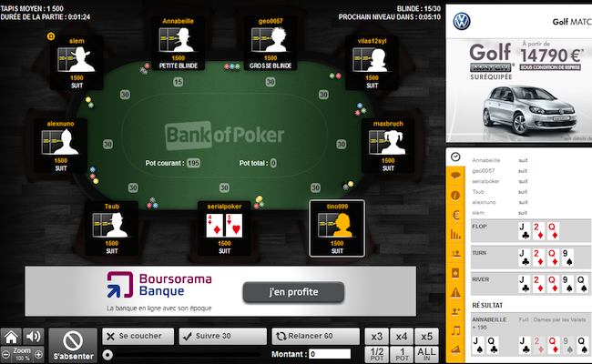 Photo de Des ténors du web misent sur la start-up Bank of Poker