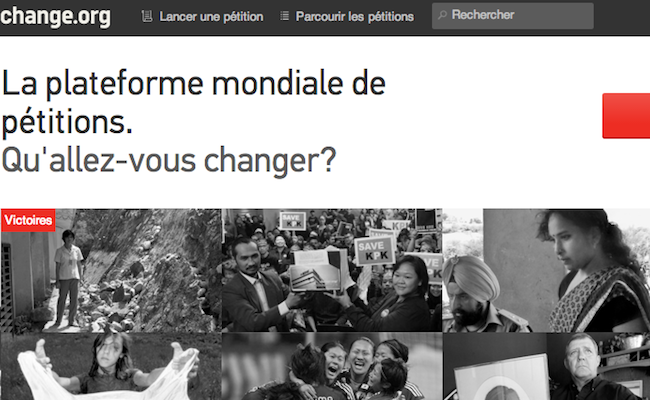 Photo de La plateforme de pétitions en ligne Change.org lève 15 millions de dollars