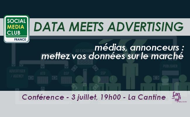 Photo de Social Media Club – DATA MEETS ADVERTISING médias, annonceurs : mettez vos données sur le marché !, le 3 juillet à Paris