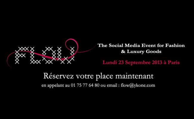 Photo de Flow, l'événement social média dédié exclusivement aux marques de mode, de beauté et de luxe