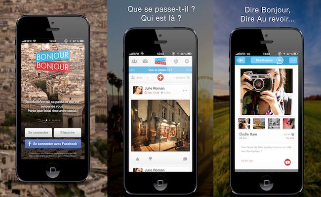 Photo de Le français BonjourBonjour lève 650 000 euros et lance un réseau social pour iPhone