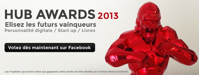 Photo de Hub Awards 2013: votez pour la meilleure start-up !