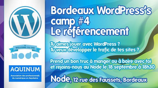 Photo de Bordeaux WordPress Camp #4 consacré au référencement
