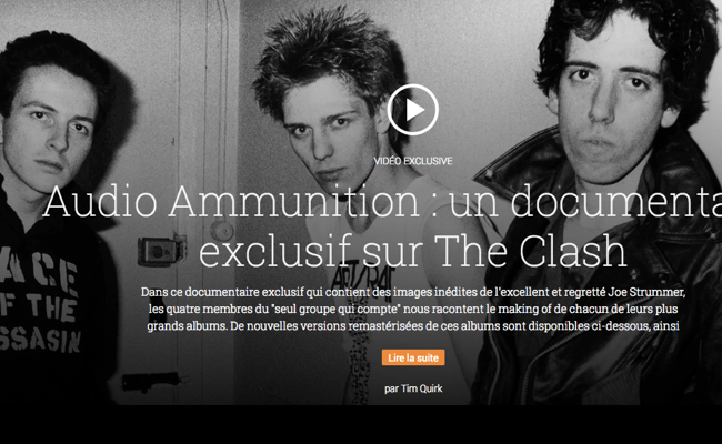 Photo de Google produit un documentaire sur le groupe mythique The Clash