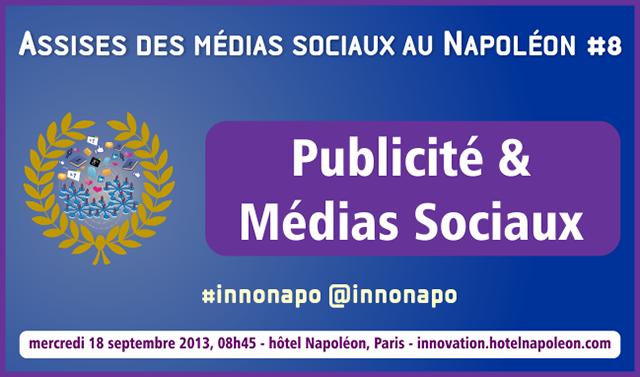 Photo de L'innovation au Napoléon : Publicité et Médias Sociaux, le 18 septembre à Paris