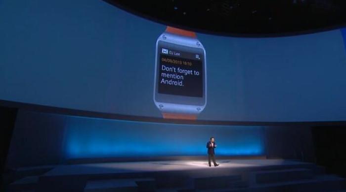 Photo de [La photo du jour] Samsung présente Galaxy Gear