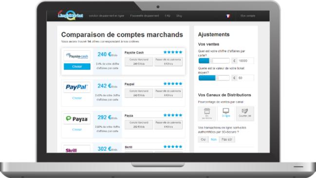Photo de La startup du jour : LimpidMarket, comparateur de solutions de paiement en ligne