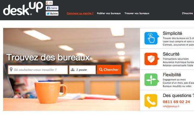 Photo de La startup du jour : Deskup, une plateforme de location de bureaux sans engagement