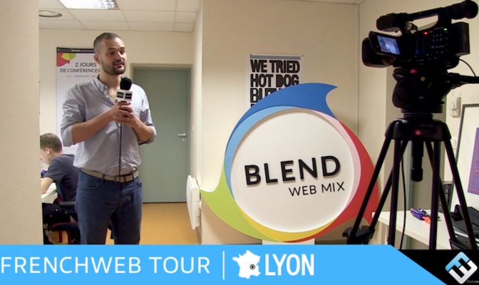 Photo de [FrenchWeb Tour Lyon] Guilhem Bertholet, fondateur de Blend & Invox