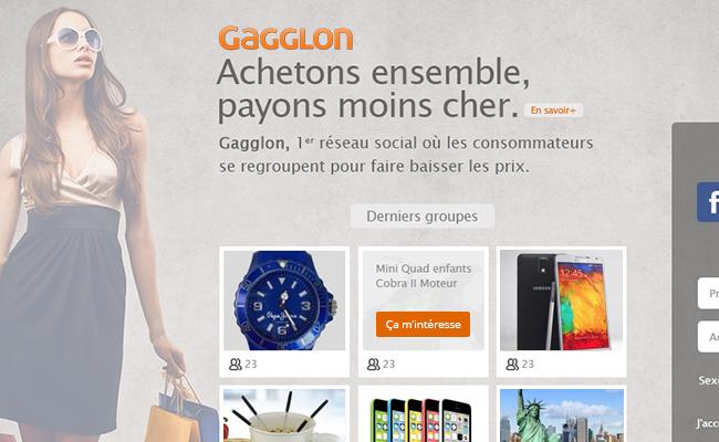 """La startup du jour : Gagglon, réseau social de """"deals"""" où les acheteurs choisissent les produits - Decode Media"""