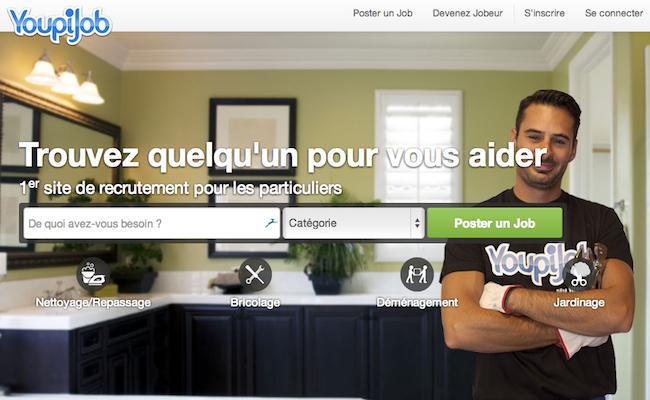 la startup du jour youpijob pour demander et offrir ses services entre particuliers. Black Bedroom Furniture Sets. Home Design Ideas