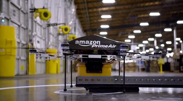 Photo de Amazon teste la livraison avec des drones