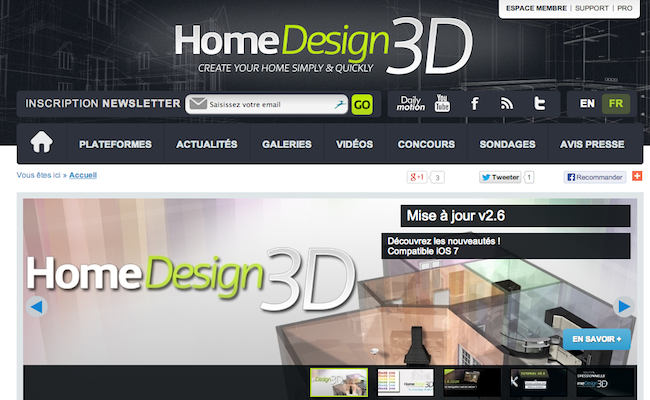 Bon app home design 3d application d architecture et for Application deco interieur