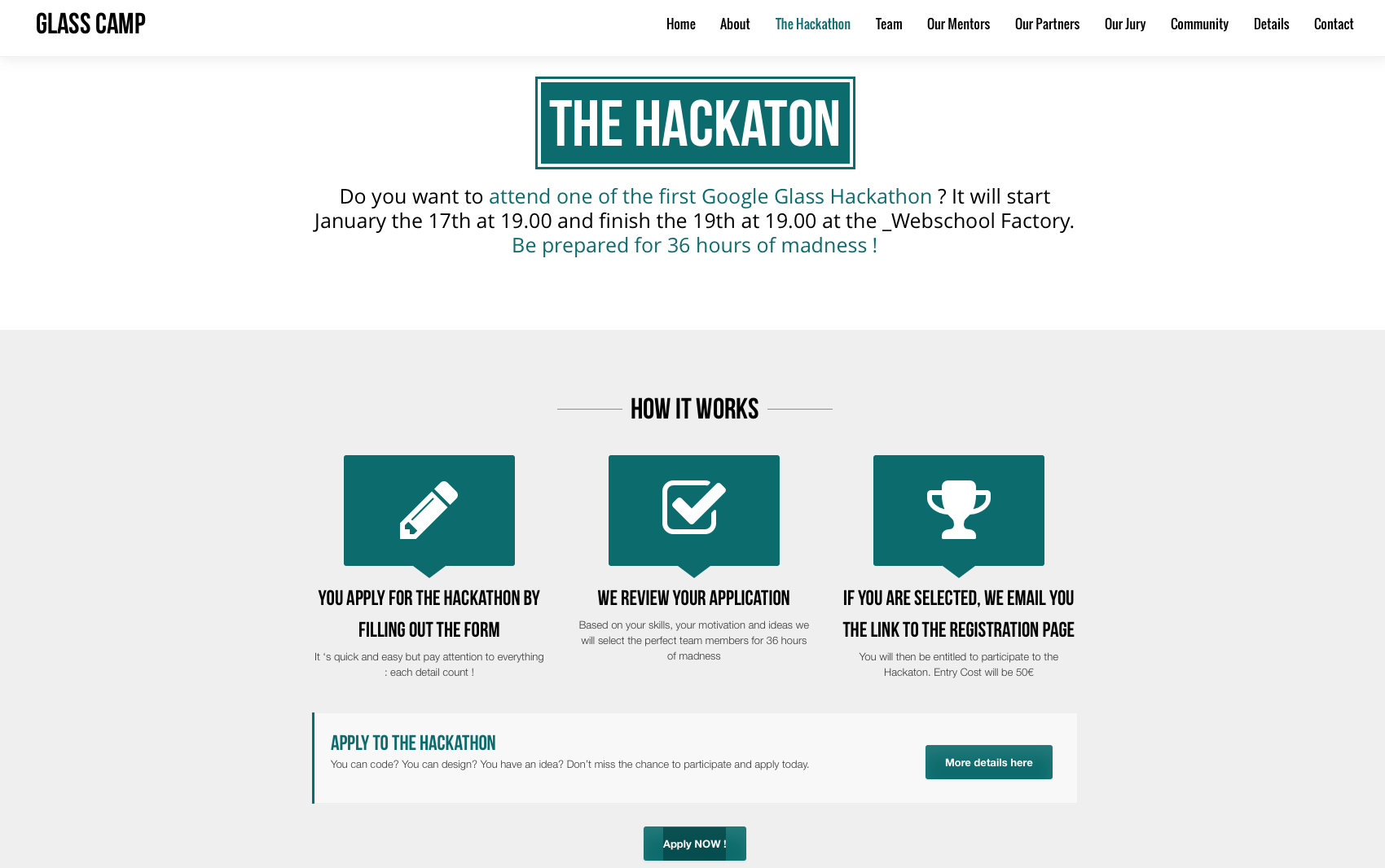 Photo de Glass Camp – Hackathon