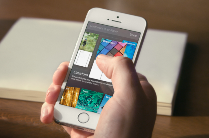 Photo de Lancement de Facebook Paper, l'app concurrente de Flipboard, le 3 février aux USA