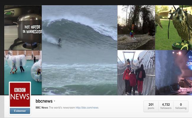 Photo de Instagram : la BBC lance Instafax, des bulletins d'informations en vidéo