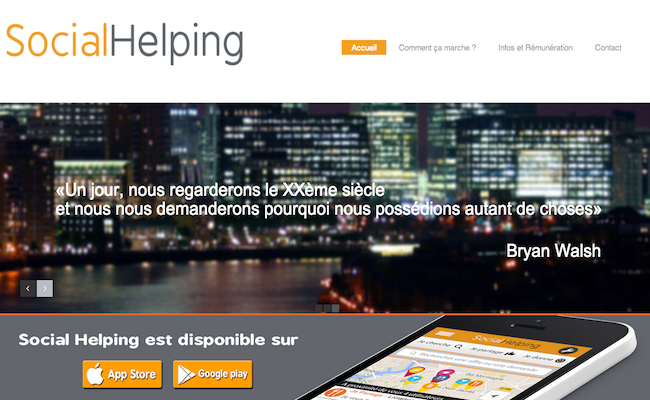 Photo de [Bon App'] Social Helping, le coup de main pas loin