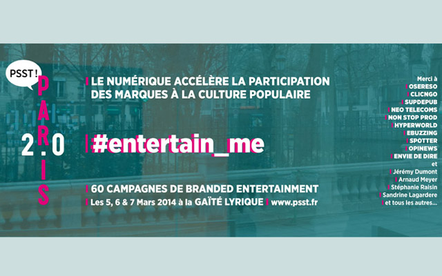 Photo de LA 5EME EDITION DE PARIS 2.0 SUR LE BRANDED ENTERTAINMENT