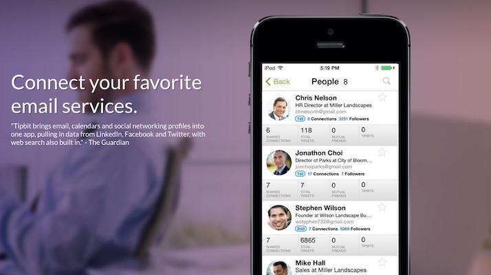 bon app 39 tipbit regroupe les e mails sms et r seaux sociaux en une application unique et l ve. Black Bedroom Furniture Sets. Home Design Ideas