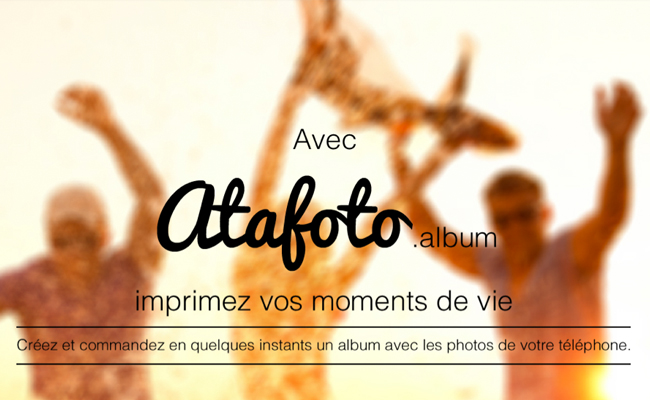 Photo de [Bon App'] Atafoto.album, une application pour créer un album photo en quelques minutes