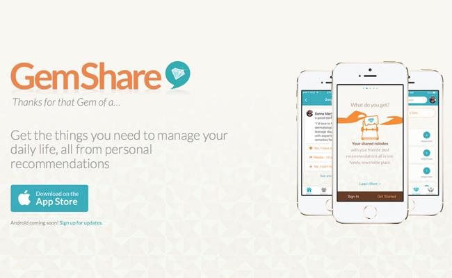 Photo de [Bon App'] GemShare, quand les contacts de votre mobile deviennent une communauté de recommandation