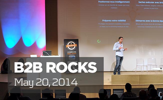 Photo de B2B Rocks, la conférence européenne sur les startups B2B et SAAS