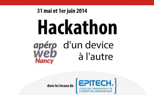 Photo de 1er hackathon des Apéros Web Nancy, sur le thème «d'un device à l'autre»