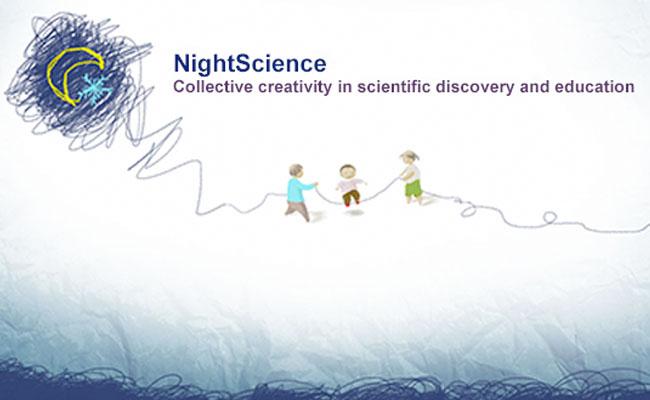 Photo de NightScience 2014 sur le thème de la créativité collective pour les sciences et l'éducation