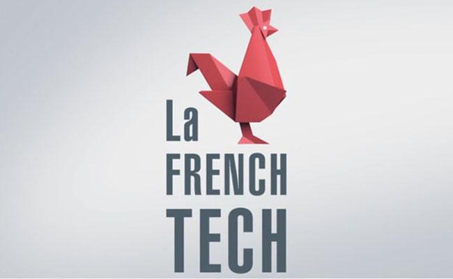 Photo de [INSIDERS] Un logo French Tech contre une bouteille de champagne dédicacée par…