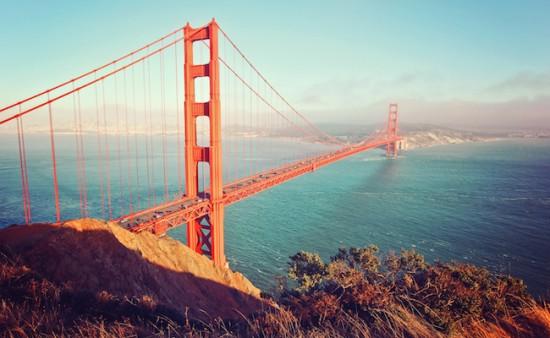 Golden Gate Bridge im Abendlicht - San Francisco