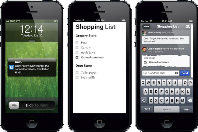 Photo de [Bon App'] Quip, créée par un ancien de Facebook, veut simplifier le partage et la gestion de documents