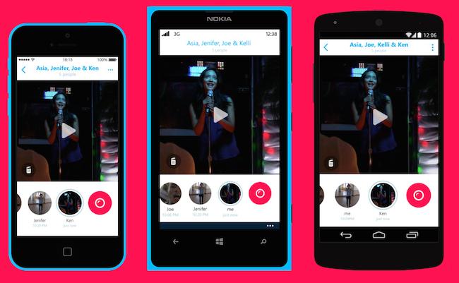 Photo de [Bon App'] Skype lance Skype Qik, une messagerie par vidéos éphémères
