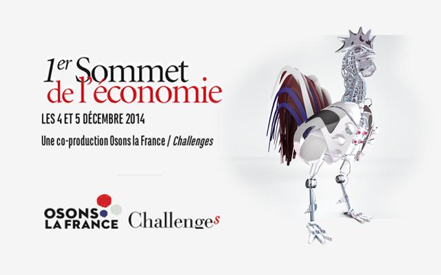 Photo de Challenges et Osons la France dévoilent le programme du 1er Sommet de l'économie