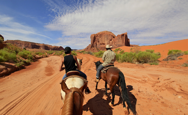 randonnée à cheval à Monument Valley, Arizona