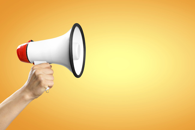 Megaphone / Orange Background