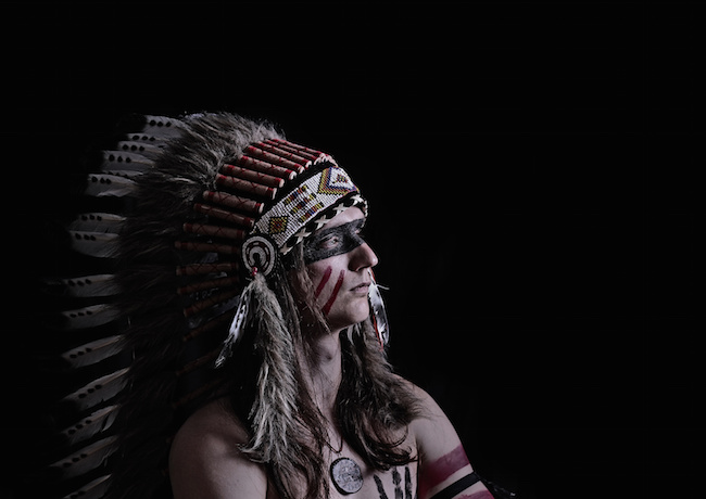American Indian in war paint