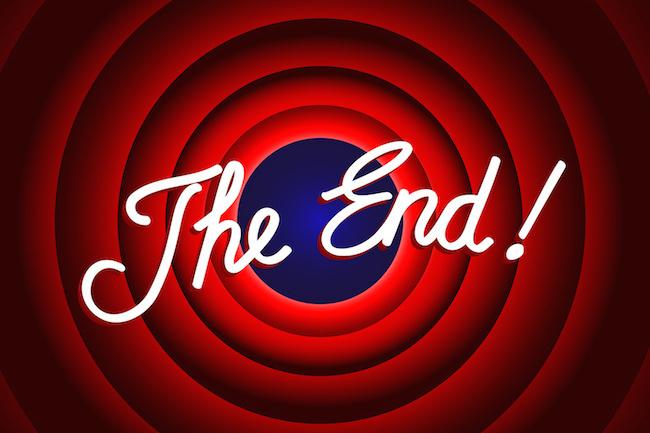 """THE END"" Message (conclusion presentation last slide thank you)"