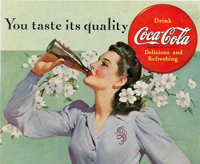 Coca Cola affiche 1942 – Crédit @The Coca-Cola Company via Flickr.com