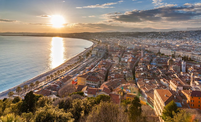 View of Nice city - Cote d'Azur -  France