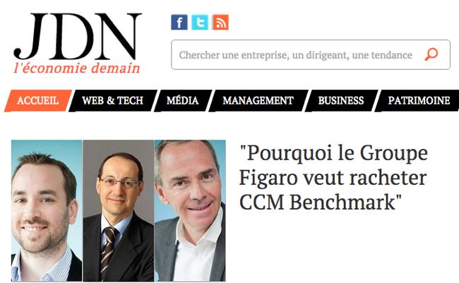 Photo de Le Figaro veut s'offrir CCM Benchmark pour devenir un acteur clef sur internet
