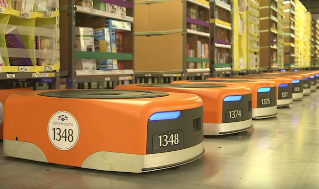 Photo de Amazon embauche 30 000 robots