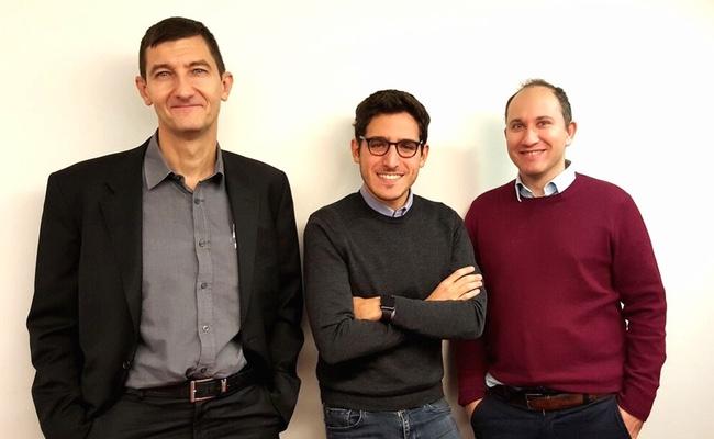 Hugues Hansen, DG de Start'inPost, Kevin Aserraf, analyste, Laurent Lipiner, directeur des opérations