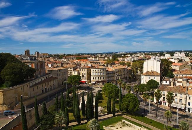 Blick auf Montpellier