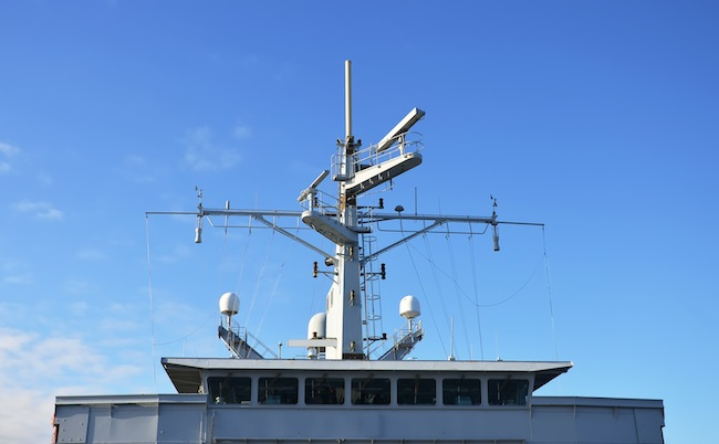Radar and other communications on the ship.