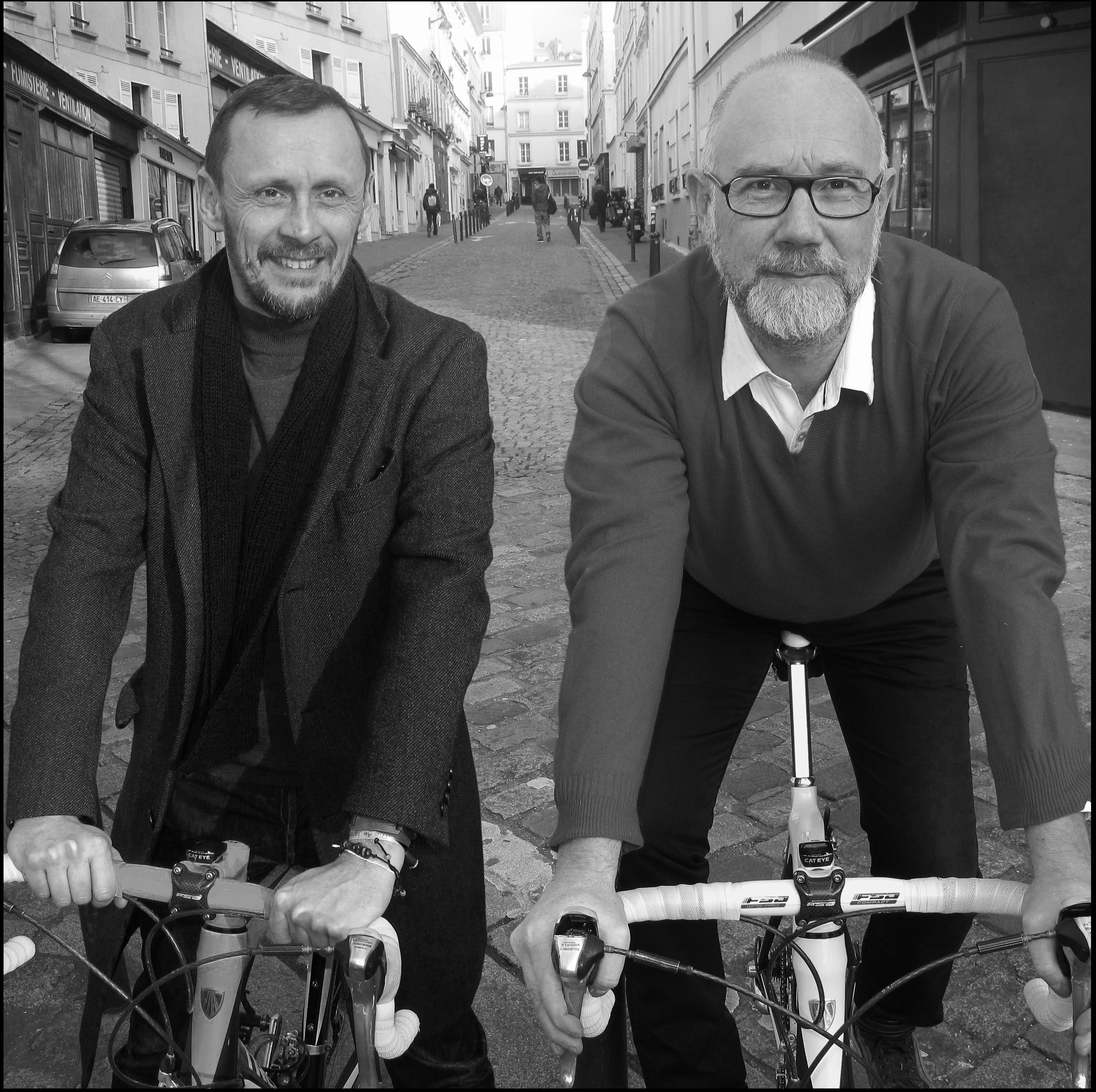 agence de publicite? LES CYCLISTES - Step hane FRANCK et Jean-Jacqques SEBILLE