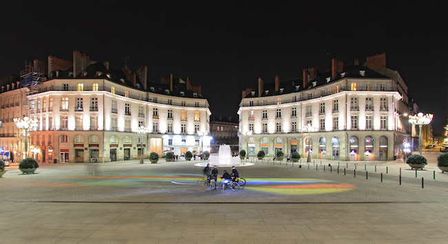 Un soir place Graslin  Nantes (Loire-Atlantique)